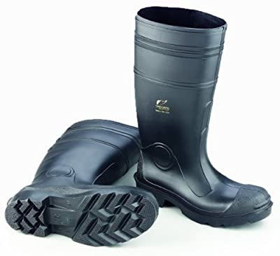 "ONGUARD 87401 PVC Men's Buffalo Plain Toe Knee Boots with Lug Outsole, 16"" Height, Black, Size 12"