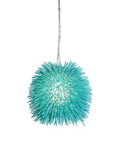 Varaluz Urchin 1-Light Mini Pendant, Aqua Velvet