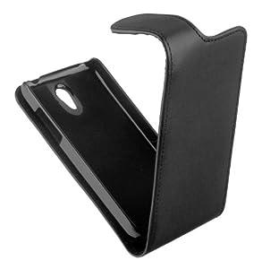 yayago Premium Flip-New-Style Tasche in schwarz für Huawei Ascend G330 (U8825)