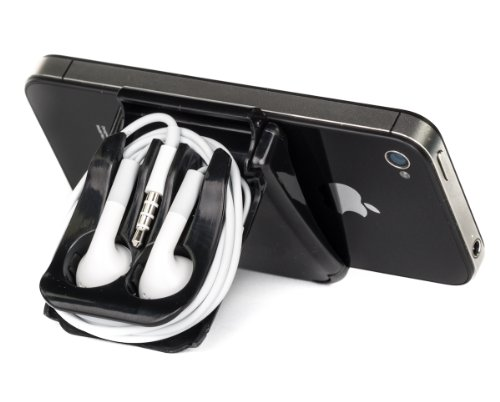 Iphone Stand, Small Tablet Stand, Ipad Stand And Black Earphone Case - Earphone Not Included