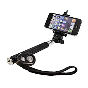 Generic 036 Monopod Selfie Stick With Phone Holder And Bluetooth Wireless Remote Shutter For IPhone And Android 4.2.2 Smartphones Black