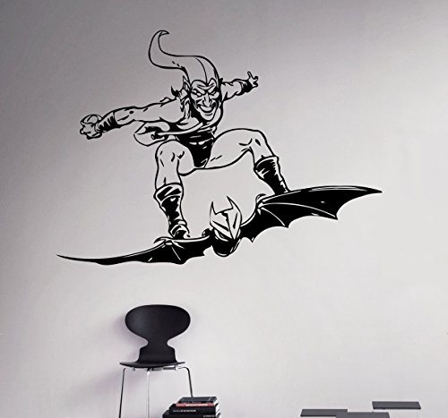 Green Goblin Wall Decal Comics Supervillains Vinyl Sticker Spider Man Home Wall Art Decor Ideas Interior Removable Design 2(ggb)