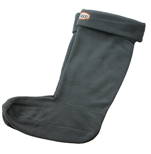 Fleecy Rain Boot Liners for Men and Women -Warm Cosy Socks for the Winter (Medium (7-9), Grey) (Boot Inserts For Men compare prices)