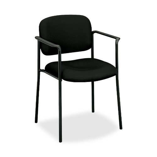 basyx by HON VL616 Guest Chair with Arms, Black
