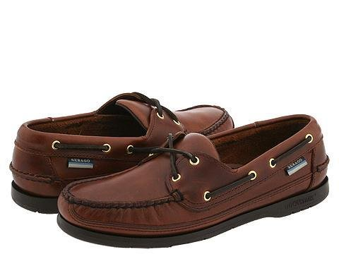Sebago Men's Schooner Shoe,Brown Oiled Waxy,9