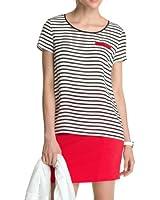 ESPRIT Collection Damen T-Shirt Hochwertige Seide 034EO1F023