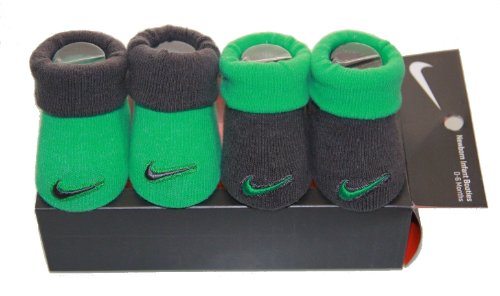 New Nike Baby Booties Crib Shoes, Green Gray, 0-6 Months 2 Pair. front-1049924