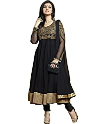 Poonam Fab-Unstitch Dress Material_A_Black