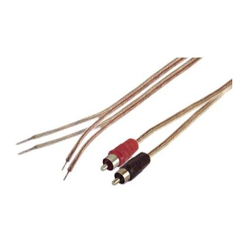 IEC 18 AWG 1-Feet Speaker Wire Pair with RCA Males - Black/Red