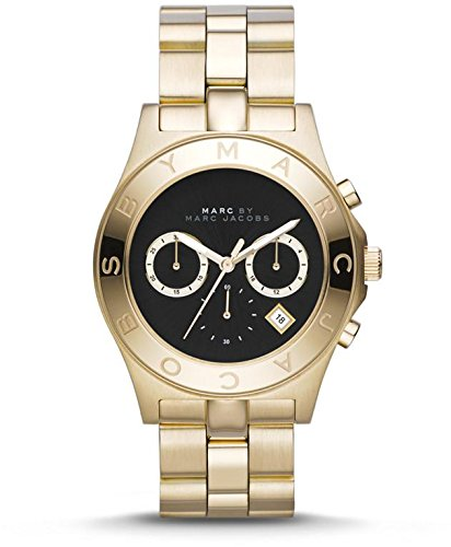 Marc By Marc Jacobs Blade Black Dial Gold Tone Ladies Watch Mbm3309