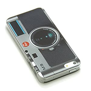 Lovely Back Cover Case for Iphone 5 5s with Free LCD Film Old Fashion Black Camera by INASK
