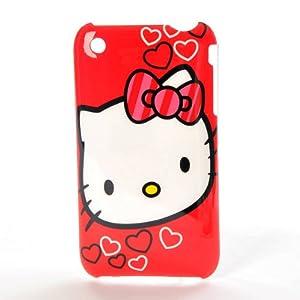 Hello kitty mit herzen schutzh lle geh use h lle hard case f r apple iphone 3 3g 3gs plastik - Hello kitty fernseher ...