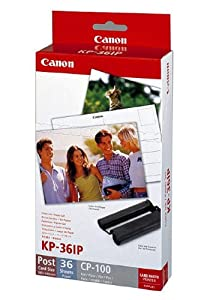Canon Fotopapier für Canon Selphy CP 800, 36 Blatt A6 RS: Postkarte, Color Ink Paper Set, 100x148 mm, CP800