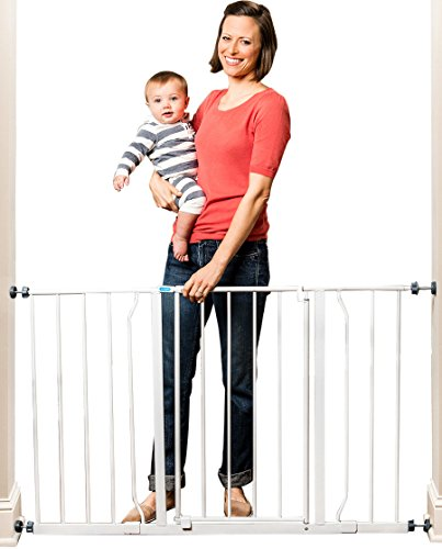 Regalo Easy Open 50 Inch Wide Baby Gate, Pressure Mount with 2 Included Extension Kits (Extra Tall Pressure Mount Gate compare prices)