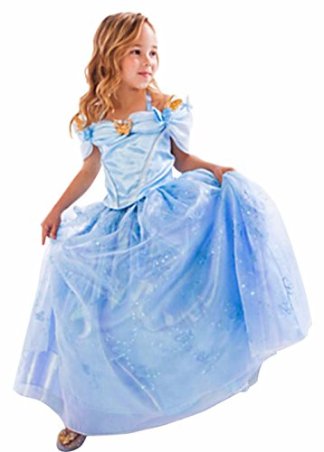 Janeyer®Girls Cinderella Dress Princess Costume Butterfly Kids