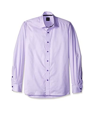 Ike Behar Men's Mini Check Sportshirt