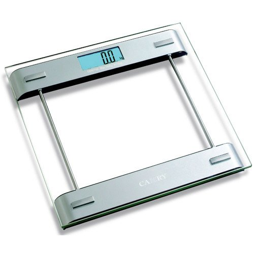 Cheap Camry Precision Digital Bathroom Scale with 0.315 inch Tempered Glass Platform and Extra Large Blue LCD Backlit Display, 330 lb. (EB9971H-31P)