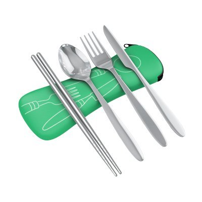 4-Piece-Stainless-Steel-Knife-Fork-Spoon-Chopsticks-Lightweight-Travel-Camping-Cutlery-Set-with-Neoprene-Case