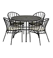 Tangier Table & 4 Chairs Set
