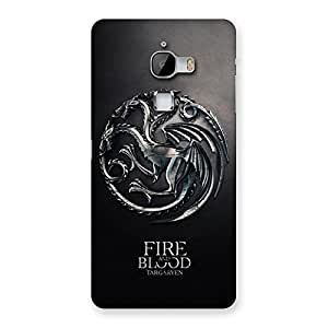 Enticing Blood Fire Emb Back Case Cover for LeTv Le Max