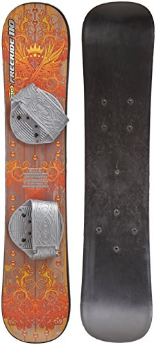 EMSCO Group - Free Ride Snowboard - Great for Beginners - For Kids Ages 5-15 - Solid Core Construction - Adjustable Step-In Bindings