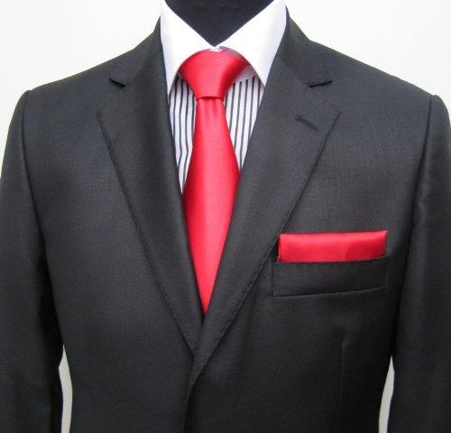 MUGA mens Suit elegant, Slim-line, Black, Size 44R (EU 54)