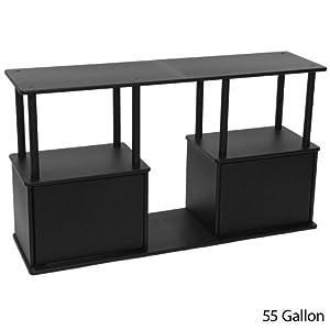 Aquatic Fundamentals Mixed Media Series with Storage - 55 Gallon Black Stand