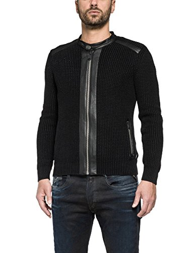 Replay UK1421.000.G21280G, Cardigan Uomo, Nero (Black 98), Large