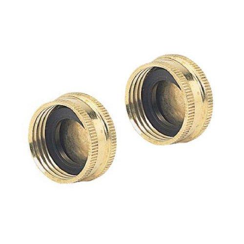 05hc2gt 2 pack green thumb brass hose cap apparel