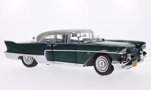cadillac-eldorado-brougham-metallic-dunkelgrun-silber-1957-modellauto-fertigmodell-sun-star-118