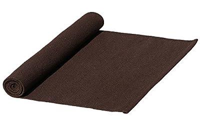 SouvNear Baumwolle Set mit Yoga Matte und Tasche - Umweltfreundliche handgefertigte extralange 1,82 cm Premium Fitness Yoga Matte Teppich mit Jute-Tragetasche