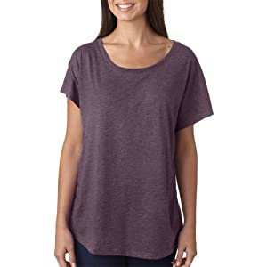 6760 Next Level Tri-Blend Dolman Vintage Purple XL