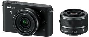 """Nikon 1 J1 Appareil photo numérique hybride 10,1 Mpix Écran LCD 3"""" 3X Noir"""