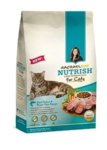 RACHAEL RAY NUTRISH Natural Cat Food, Real Salmon & Brown Rice, 14lb bag