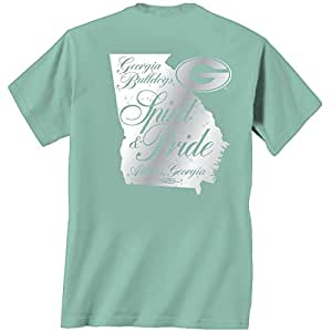 Georgia bulldogs unisex t shirt spirit for Mint color t shirt