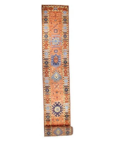 Bashian Rugs Hand-Knotted Pakistani Tribal Rug, Rust, 2' 9 x 35' 9 Runner