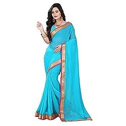 Aagaman Fashion Chiffon Saree ( TSKL6020_Blue )