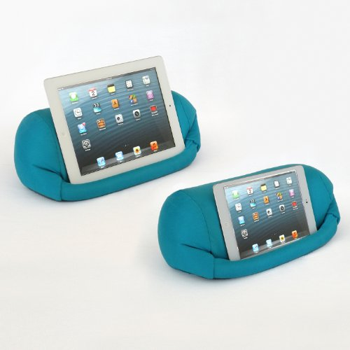 LAP PRO - MINI, Universal Beanbag Lap Stand for iPad Mini 1,2,3,4, iPad Air, iPad 1, iPad 2, iPad 3, iPad 4, Kindle, Galaxy, Xoom, Acer, Nexus 7 & all Android Tablets, E-Readers, Books & Magazines - Bed, Couch, Travel - Adjustable Angle; 0 - 89 deg. - Blue (Lap Tablet Stand compare prices)