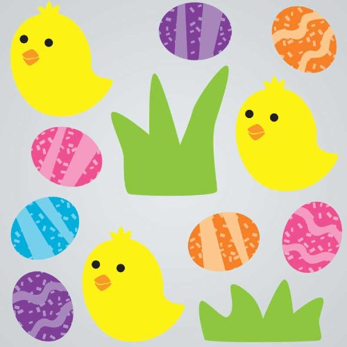GelGems Chicks & Eggs Small Bag Gel Clings - 1