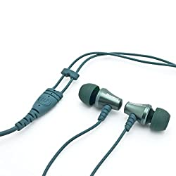 Brainwavz Jive Noise Isolating IEM Earphones With Remote & Mic For Android Phones, Tablets & Other Android OS Devices (Green-Android)