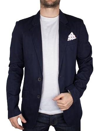Antony Morato Homme Slim Blazer Jacket, Bleu, Large