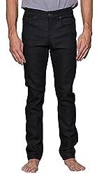 Victorious Men's Skinny Fit Raw Denim Jeans DL938 - BLACK