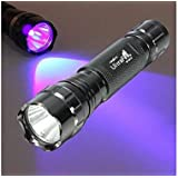 UltraFire® New Wf-501b G60 Uv 3w Ultraviolet LED Flashlight Torch with UV Light Keychains