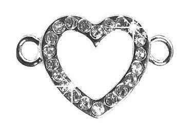 Undee Bandz Rubbzy Rhinestone Rubber Band Bracelet Charm Heart