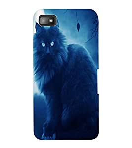 ColourCraft Scary Cat Design Back Case Cover for BLACKBERRY Z10