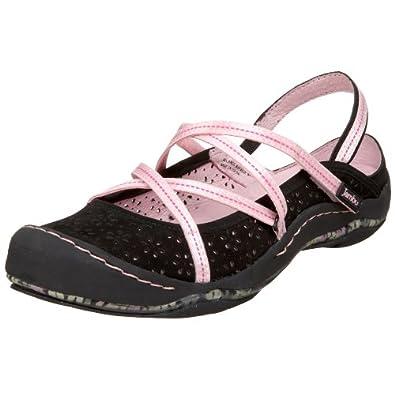 Jambu Women's Odyssey Sport Sandal,Black,5 M US