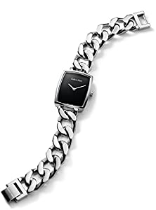 Calvin Klein K5D2M121 Black Dial Silver Chain Strap Ladies Watch