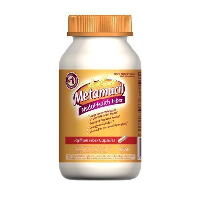 Metamucil Fiber Therapy For Regularity - Natural Psyllium Fiber Supplement - Value Pack Capsules 300 Count