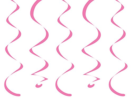"Creative Converting 10 Count Dizzy Danglers, 18"", Candy Pink"