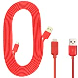 NEW HIGH QUALITY 3M METER RED MICRO USB 5 PIN SYNC LONG CHARGER DATA CABLE FOR MOTOROLA MOTO G X DROID RAZR DEFY ATRIX HD 4G 2 MILESTONE XOOM CHARM PHOTON ELECTRIFY FIRE